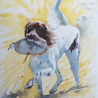 """""""Look what I found"""" watercolor"""